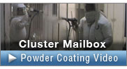 Cluster Mailbox Powder Coating Video