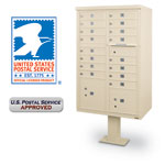 16 Door F-Spec Cluster Box Unit with Pedestal