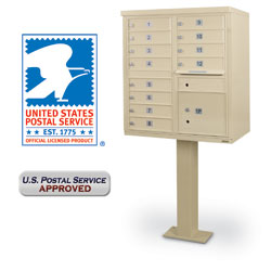 12-Door F-Spec Cluster Box Unit with Pedestal